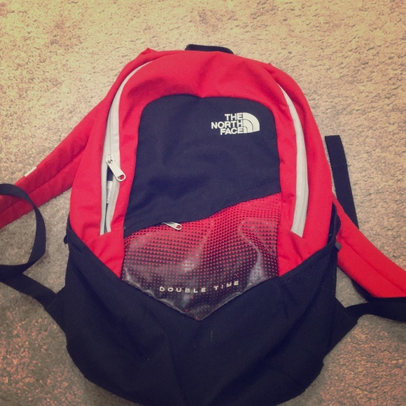 0e9175cfeac1 THE NORTH FACE RED BACKPACK BOOK BAG RED BLACK